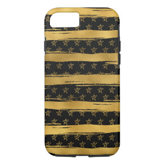 Gold Black Stars and Stripes Case-Mate iPhone Case