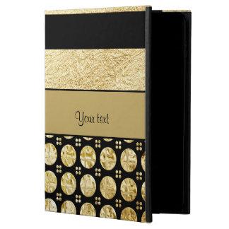 Gold & Black Stripes And Glitter Spots