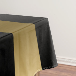 Gold U0026amp; Black Stripes Geometric Pattern Tablecloth