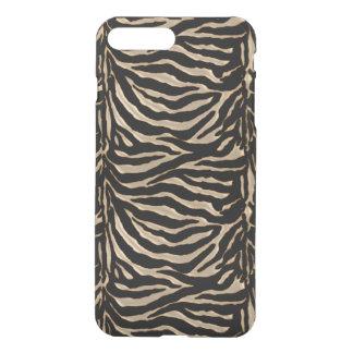 Gold Black Tiger Stripe Animal Print iPhone 7 Case