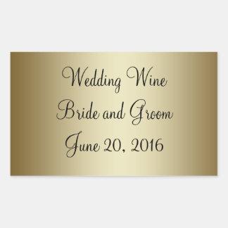 Gold Black Wedding Wine Label Sticker