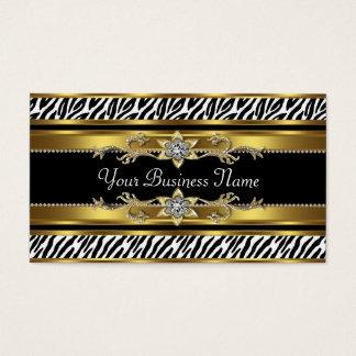 Gold Black Zebra Business Cards