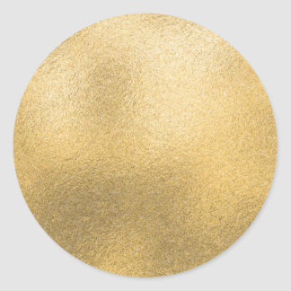 Gold Blank Template Faux Textured Foil Classic Round Sticker