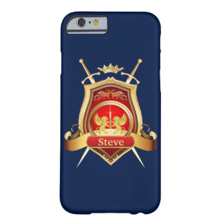 Gold Blazon Personalized Monogram Barely There iPhone 6 Case