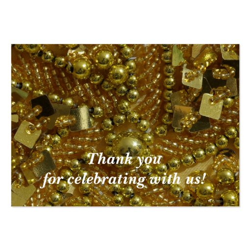 Gold bling and pearls business card templates