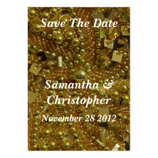 Gold bling and pearls large business card