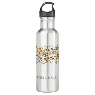 Gold Bling Glitter Confetti 710 Ml Water Bottle