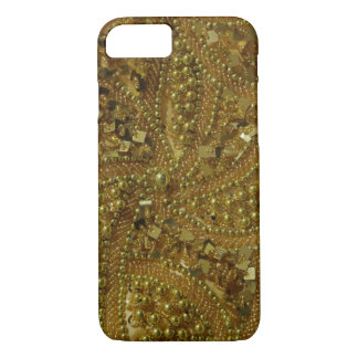 Gold bling glitter & pearls iPhone 7 case