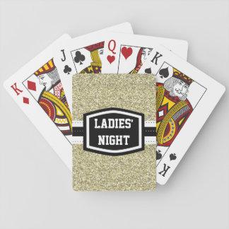 Gold Bling Ladies' Night Poker Deck