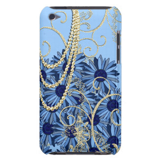 Gold Blue and Navy Swirl iTouch Case iPod Touch Cover