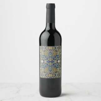 gold blue cross wine label