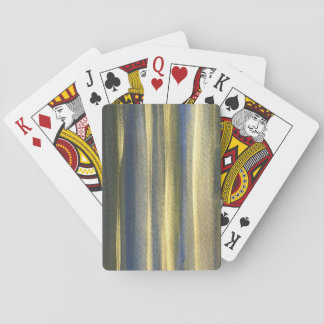 Gold Blue Lines Classic Playing Cards