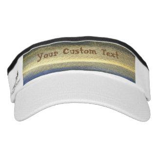 Gold Blue Lines Custom Knit Visor, White Visor