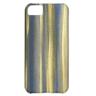 Gold Blue Lines iPhone 5C, Barely There Case For iPhone 5C