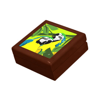 Gold BLue Macaw Art Keepsake Box