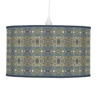 gold blue striped lamp