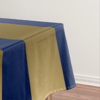 Gold & Blue Stripes Geometric Pattern Tablecloth