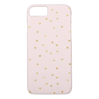 Gold Blush Pink Little Hearts Case-Mate iPhone Case