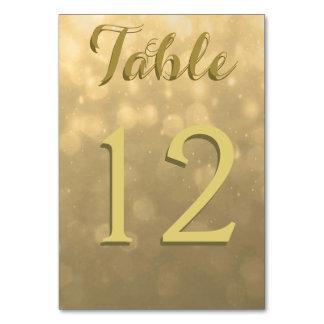 Gold Bokeh Lights Card