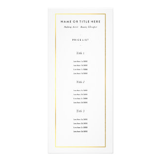 Gold Border on White | Modern Rack Card