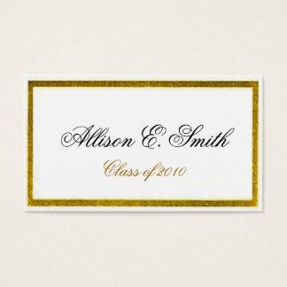 Gold Bordered Graduation Name Card