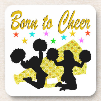 GOLD BORN TO CHEER MEGAPHONE CHEERLEADER COASTER