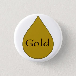 Gold breastfeeding award badge. 1 year 1 inch round button