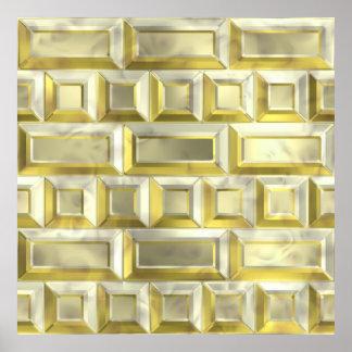 Gold Brick Poster