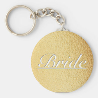gold bridal keychain