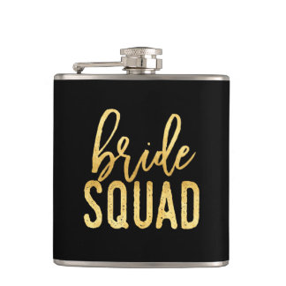 Gold Bride Squad Flask