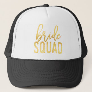 Gold Bride Squad Trucker Hat