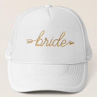 Gold Bride Trucker Hat
