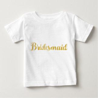 Gold bridesmaid baby T-Shirt