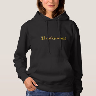 Gold bridesmaid hoodie