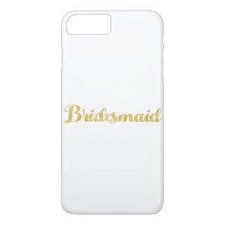 Gold bridesmaid iPhone 8 plus/7 plus case