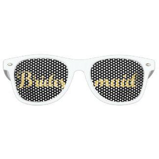 Gold bridesmaid retro sunglasses