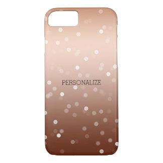 Gold Bronze and White Bokeh Confetti iPhone 8/7 Case