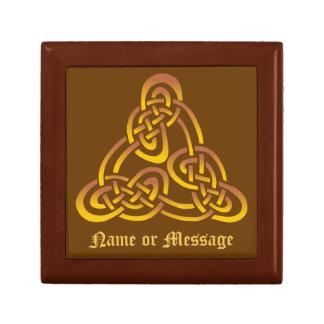 Gold Bronze Celtic Trinity Knot Gift Box