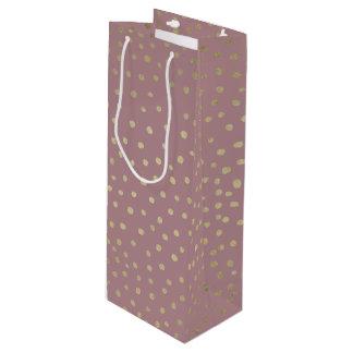 Gold Bronze Dot Pattern Gift Bag