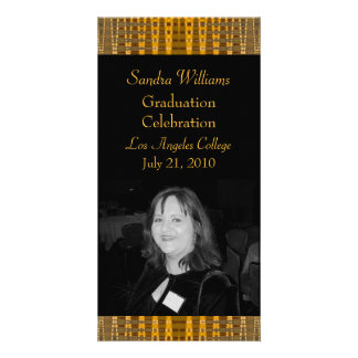 gold brown graduation photo cards