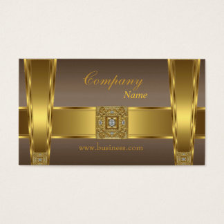 Gold Brown Jewel Company Business Card