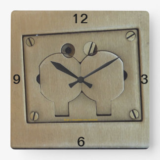 Gold Brush Simulated Metal Mechanical Wall Clock