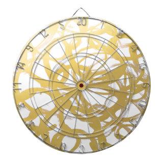 Gold Brushstroke Watercolor Circles Dart Board