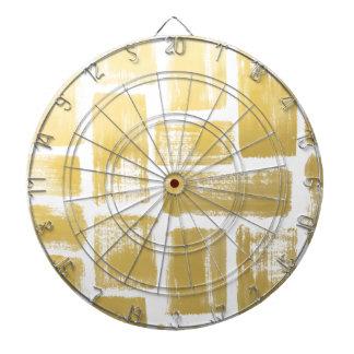 Gold Brushstroke Watercolor Stripes Dart Boards