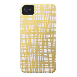 Gold Brushstroke Watercolor Stripes iPhone 4 Case