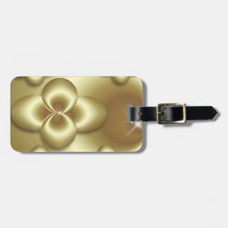 gold bubbles luggage tag