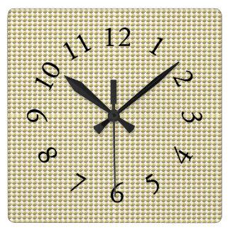 Gold-Bubbles-Stylish-Mod-Clocks Square Wall Clock