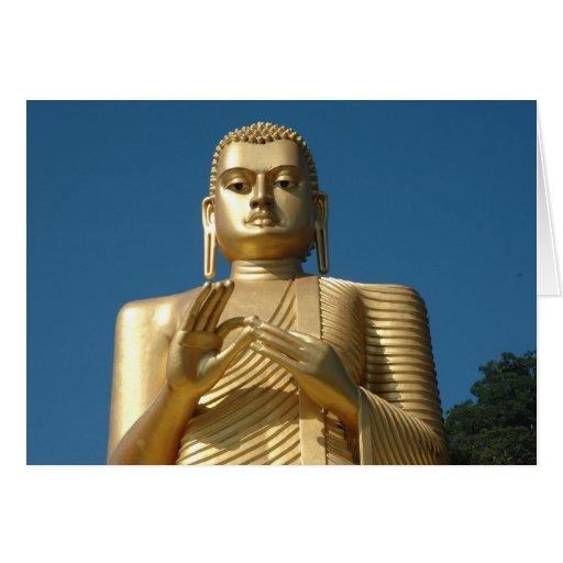 Gold Buddha Image Greeting Cards