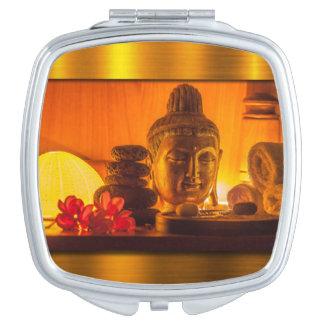 Gold Buddha Makeup Mirrors
