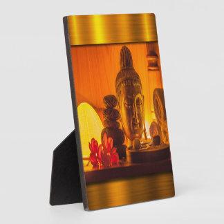 Gold Buddha Plaque